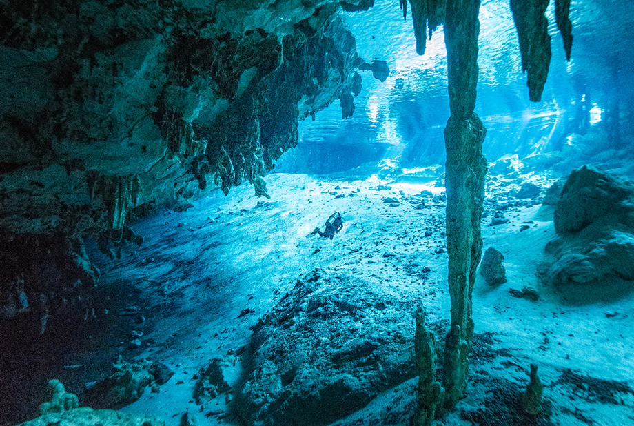 Cenote cavern diving with elite divers international
