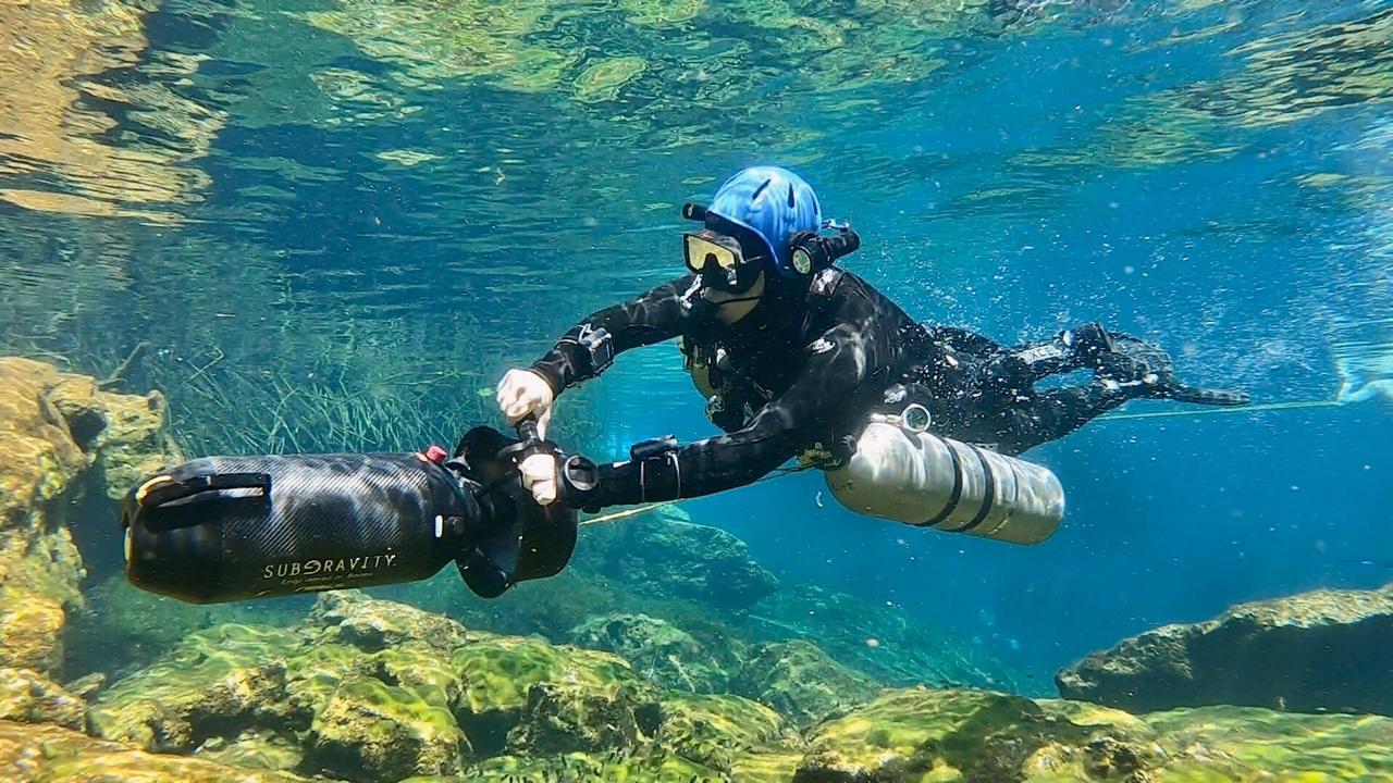 Cenote cave diving in Playa del Carmen