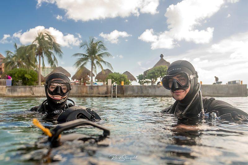 cours de plongée en scooter sous-marin à Playa del Carmen au Mexique