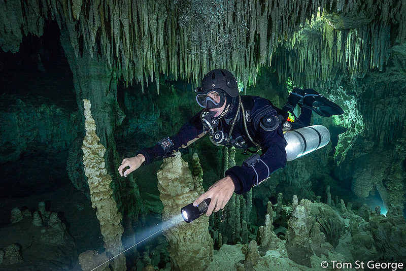 Cenote cave diving in Playa del Carmen